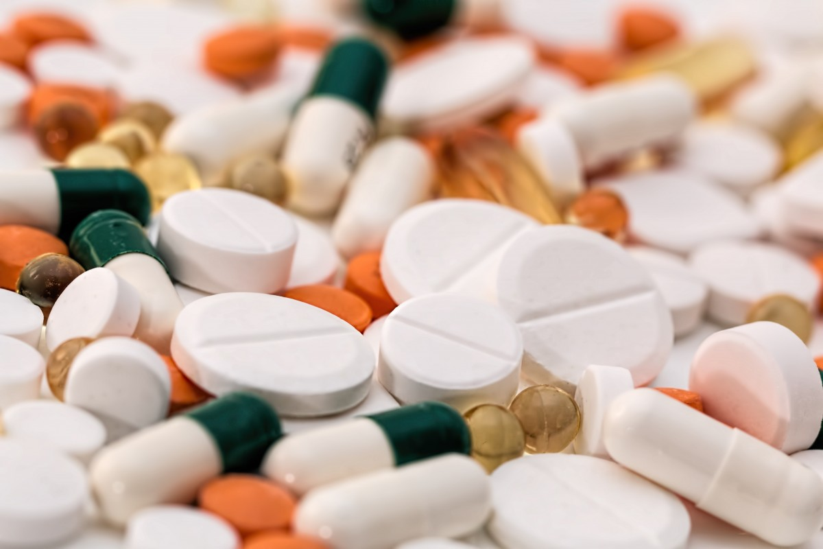 Scattered prescription pills